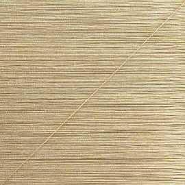 Cordon lurex Rumba 0,5 mm - blanc/doré x 1m