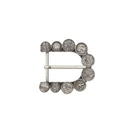 Boucle ceinture métal Pièces 40 mm - argent