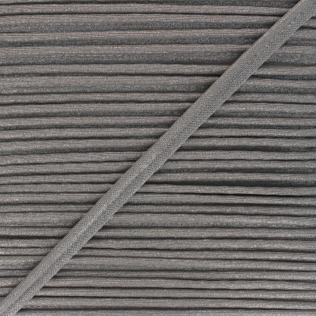 12mm Metallic piping - grey Danse! x 1m