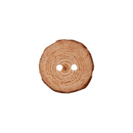 32 mm wood button - natural Legno