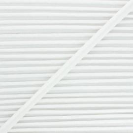 12mm Metallic piping - white Danse! x 1m