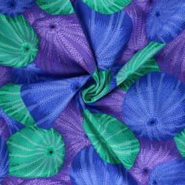 Kaffe Fassett Cotton poplin fabric - blue Sea urchins x 10cm