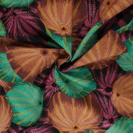 Kaffe Fassett Cotton poplin fabric - brown Sea urchins x 10cm