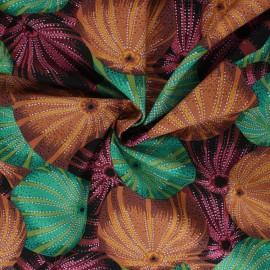Tissu popeline de coton Kaffe Fassett Sea urchins - marron x 10cm
