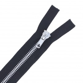 Aluminium separable zipper - black