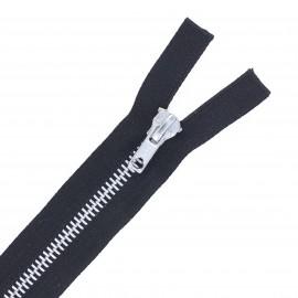 Fermeture Eclair® aluminium séparable - noir