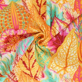 Kaffe Fassett Cotton poplin fabric - orange Coleus x 10cm