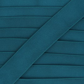 40mm Metallic flat elastic - duck blue Milonga x 50cm