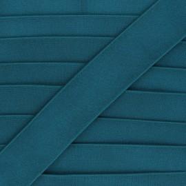 Elastique plat métallisé Milonga 40mm - bleu canard x 50cm