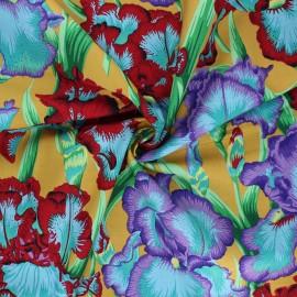Tissu popeline de coton Kaffe Fassett Bearded iris - jaune x 10cm