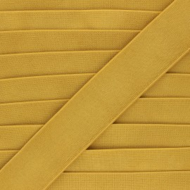 Elastique plat métallisé Milonga 40mm - jaune moutarde x 50cm