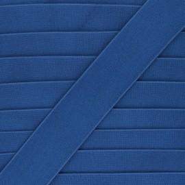 Elastique plat métallisé Milonga 40mm - bleu marine x 50cm
