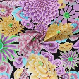 Tissu popeline de coton Kaffe Fassett Enchanted - violet x 10cm