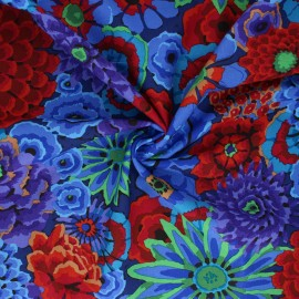 Kaffe Fassett Cotton poplin fabric - blue Enchanted x 10cm