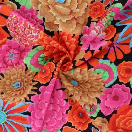 Kaffe Fassett Cotton poplin fabric - orange Enchanted x 10cm
