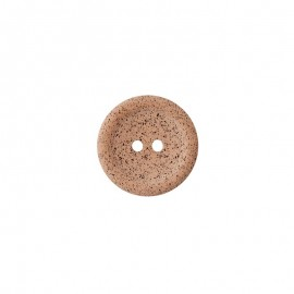 Recycled coffee button - camel Koffee