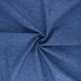 Kaffe Fassett Cotton poplin fabric - blue Aboriginal dot x 10cm