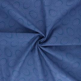 Tissu popeline de coton Kaffe Fassett Aboriginal dot - bleu x 10cm