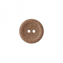 Recycled coffee button - chestnut brown Koffee