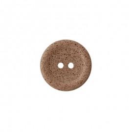 Bouton café recyclé Koffee - châtaigne