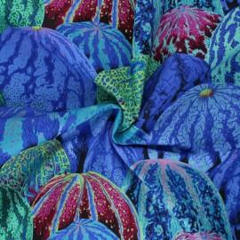 Tissu popeline de coton Kaffe Fassett Watermelons - bleu x 10cm
