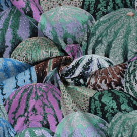 Kaffe Fassett Cotton poplin fabric - grey Watermelons x 10cm