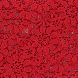 50 mm Guipure Lace - red Fiore x 1m