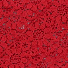 Guipure Fiore 50 mm - rouge x 1m