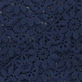 50 mm Guipure Lace - navy blue Fiore x 1m