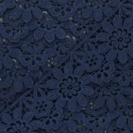 Guipure Fiore 50 mm - bleu marine x 1m