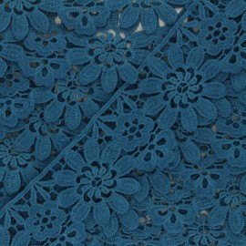 Guipure Fiore 50 mm - bleu canard x 1m
