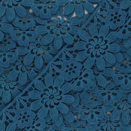 50 mm Guipure Lace - duck blue Fiore x 1m
