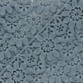 50 mm Guipure Lace - grey Fiore x 1m
