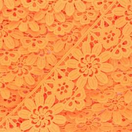 50 mm Guipure Lace - orange yellow Fiore x 1m