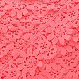50 mm Guipure Lace - fluorescent pink Fiore x 1m
