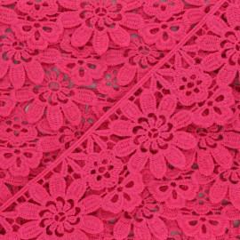 50 mm Guipure Lace - raspberry Fiore x 1m