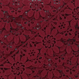 50 mm Guipure Lace - burgundy Fiore x 1m