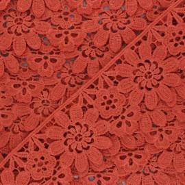 50 mm Guipure Lace - burned orange Fiore x 1m