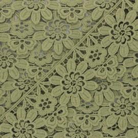 Guipure Fiore 50 mm - vert kaki clair x 1m