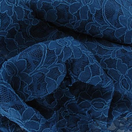 tissu dentelle bleu canard x 10cm ma petite mercerie. Black Bedroom Furniture Sets. Home Design Ideas