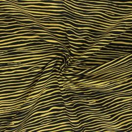 Tissu popeline de coton Kaffe Fassett Creased - jaune/noir x 10cm