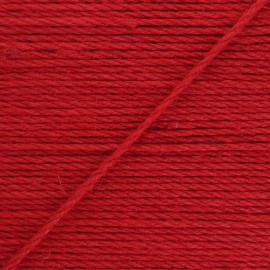 4mm jute cord - red Lata x 1m
