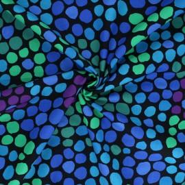 Tissu popeline de coton Kaffe Fassett Flower dot - bleu x 10cm