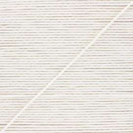 Braided polyamid cord belt 2.5mm - white
