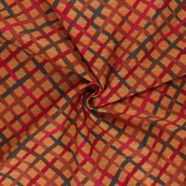 Tissu popeline de coton Kaffe Fassett Mad plaid - orange x 10cm