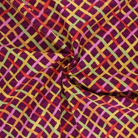 Kaffe Fassett Cotton poplin fabric - orange Mad plaid x 10cm