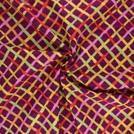 Tissu popeline de coton Kaffe Fassett Mad plaid - bordeaux x 10cm