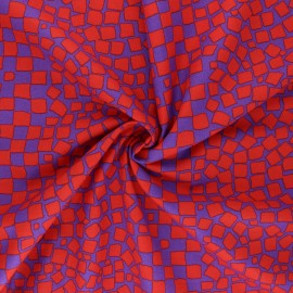 Kaffe Fassett Cotton poplin fabric - red Chips x 10cm