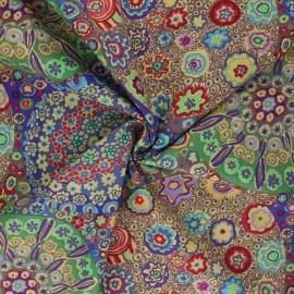Tissu popeline de coton Kaffe Fassett Millefiore - multicolore x 10cm