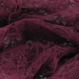 Lace Fabric - Wine x 10cm